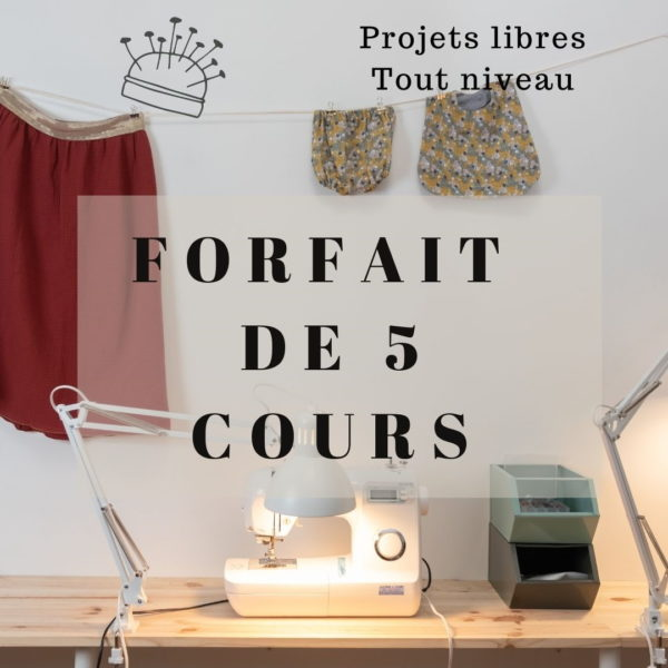 cours de couture Bordeaux projet libre