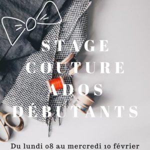 Stage couture ados débutants